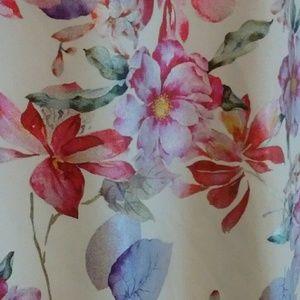 eci New York Metallic Floral Print Skirt